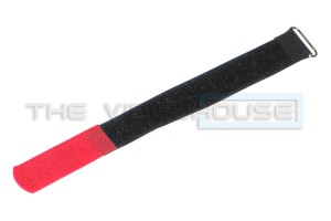 Cable tie, 25mm x 17cm + 6cm haaktip, rood