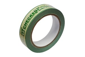 PVC controle tape, Checked, 25mm x 66m