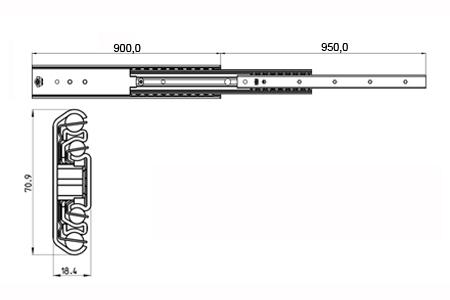 Ladegeleiders 900mm
