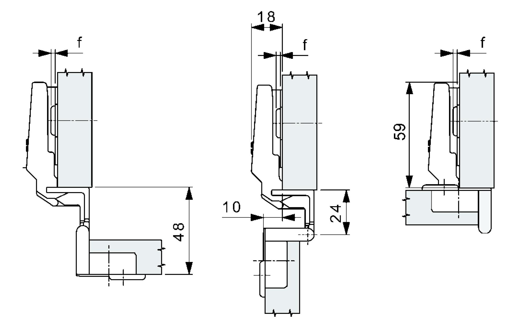 SSP70-T20 SSP scharnier 270 graden, voor plaatmateriaal van 15-21mm.